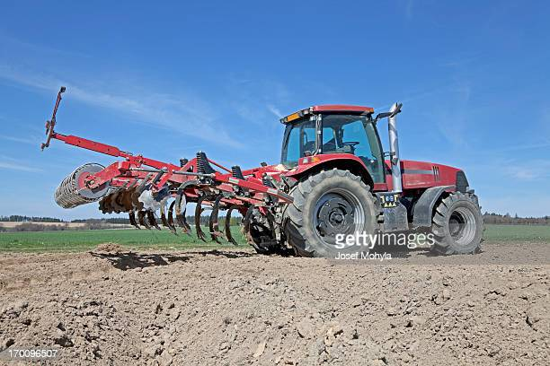 tractor and cultivator - tiller stock photos and pictures