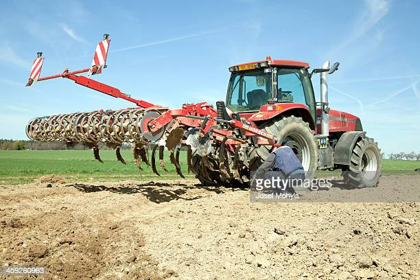 tractor case and cultivator horsh - tiller stock photos and pictures