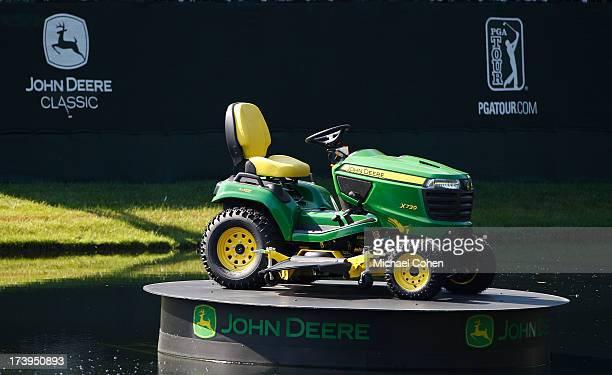 A tractor display near the 18th green during the first round of the John Deere Classic held at TPC Deere Run on July 11 2013 in Silvis Illinois