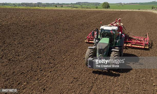 Tractor Drilling Field