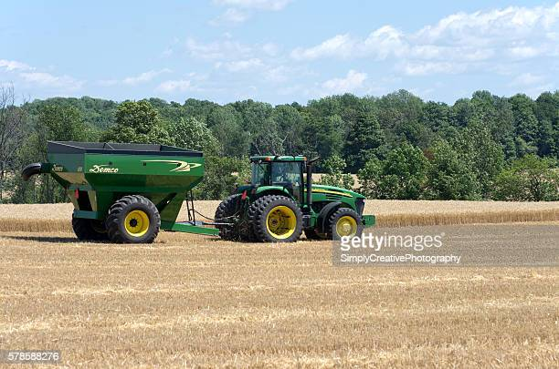 Tractor in Wheat Field