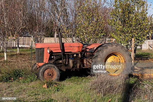 A tractor observed in a yard in Los Molinos a small town in Tehama County California