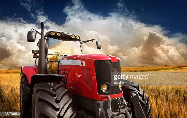 tractor on the field - tractor stock pictures, royalty-free photos & images