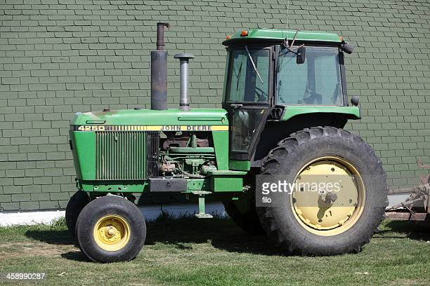 tractor - john deere tractor stock photos and pictures