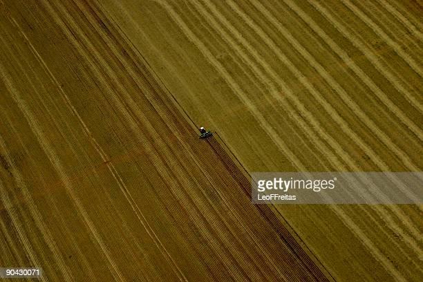 Tractor seeding Amazon field