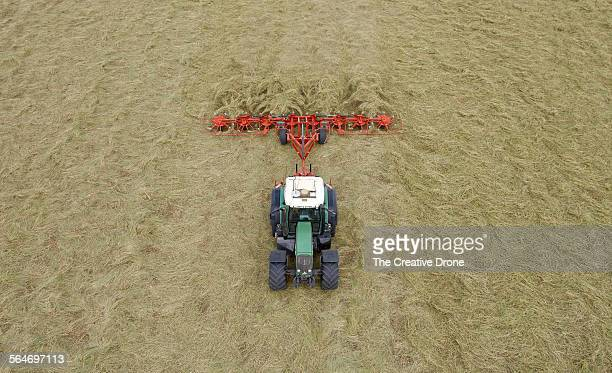 Tractor Tedding Field