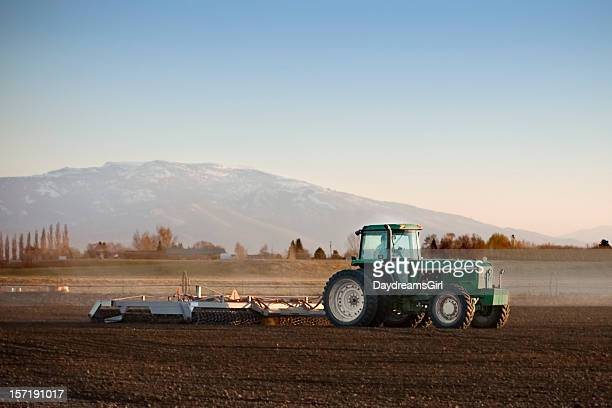 tractor work - idaho stock pictures, royalty-free photos & images