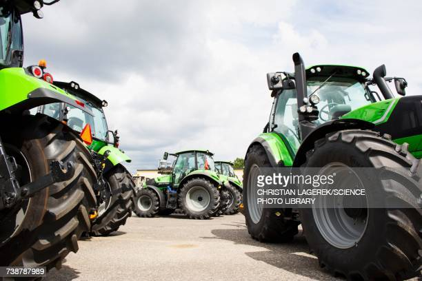 Tractors parked