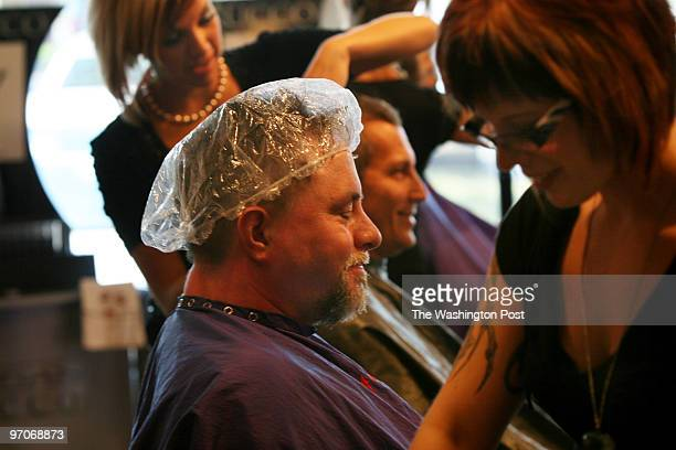 Tracy A Woodward/The Washington Post 10388 Festival Lane Manassas VA Tranquility Design Academy offering manscaping event for men Seated with plastic...