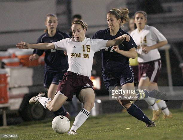 Tracy A Woodward/The Washington Post Broad Run High School 21670 Ashburn Rd Ashburn VA Girls' Soccer Broad Run vs Loudoun County High School Broad...