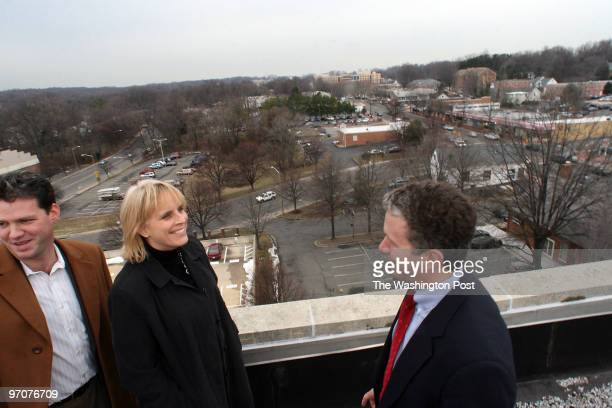 Tracy A Woodward/The Washington Post City Center Porject Falls Church VA Falls Church Mayor Robin Gardner and tour of City Center Project Overlooking...