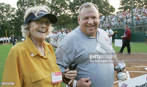 Tracy A Woodward/The Washington Post Fireman's Field Purcellville VA Opening ceremonies for the Babe Ruth World Series Making a special appearence...