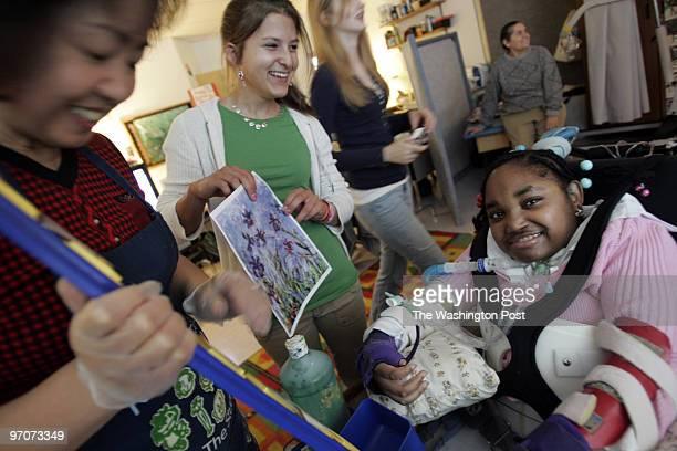Tracy A. Woodward/The Washington Post Kilmer Center, 8100 Wolftrap Rd., Vienna, VA Art class for profoundly disabled children at Kilmer Center....