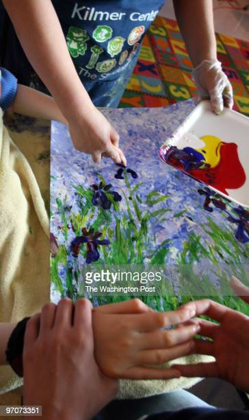 Tracy A. Woodward/The Washington Post Kilmer Center, 8100 Wolftrap Rd., Vienna, VA Art class for profoundly disabled children at Kilmer Center. On...
