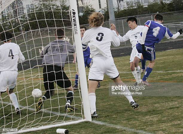 Tracy A Woodward/The Washington Post STONE BRIDGE HIGH SCHOOL 43100 Hay Road Ashburn VA Boys' Soccer Robinson at Stone Bridge High School With 420...