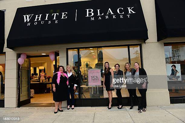 Tracy Adelkopf Maria Michini Becky Denlinger Lynn Folkman Liz Bohan and Tracy Murray attend the Shop For A Cause with Living Beyond Breast Cancer and...