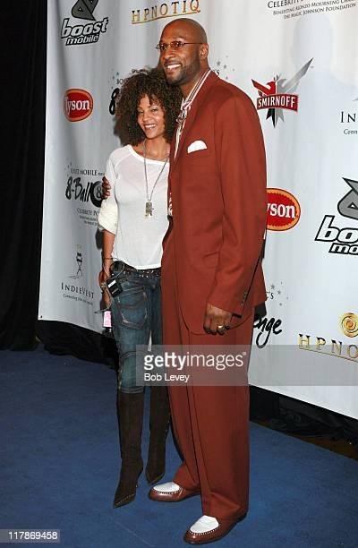 Tracy and Alonzo Mourning during Boost Mobile Presents ZO and Magic's 8 Ball Challenge Celebrity Pool Tournament at Jillian's of Houston in Houston...