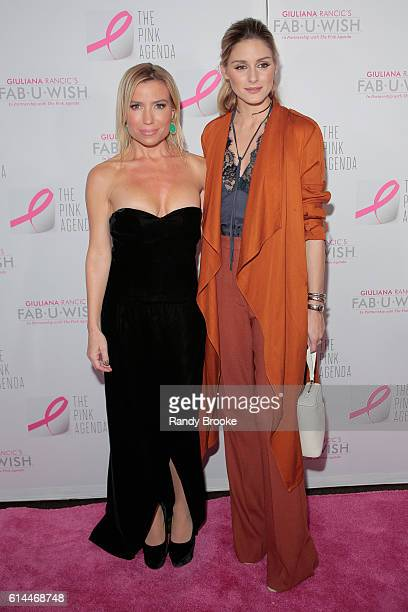 Tracy Anderson and actress Olivia Palermo attend The Pink Agenda 2016 Gala arrivals at Three Sixty on October 13 2016 in New York City