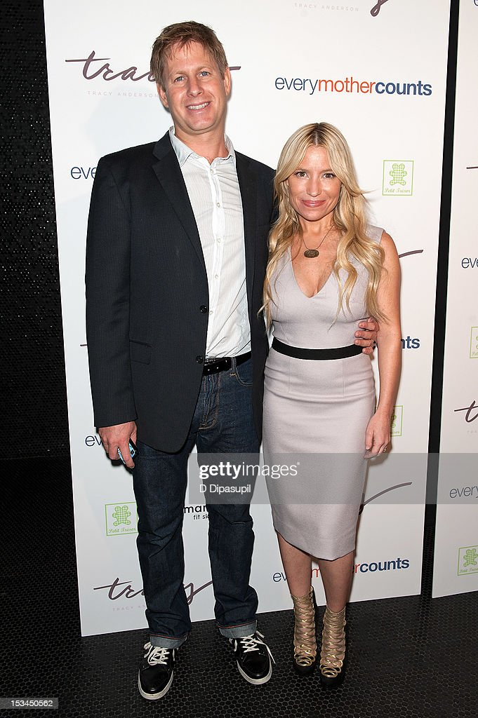 Tracy Anderson (R) and husband Matt Mogol attend The Tracy Anderson Method Pregnancy Project at Le Bain At The Standard on October 5, 2012 in New York City.