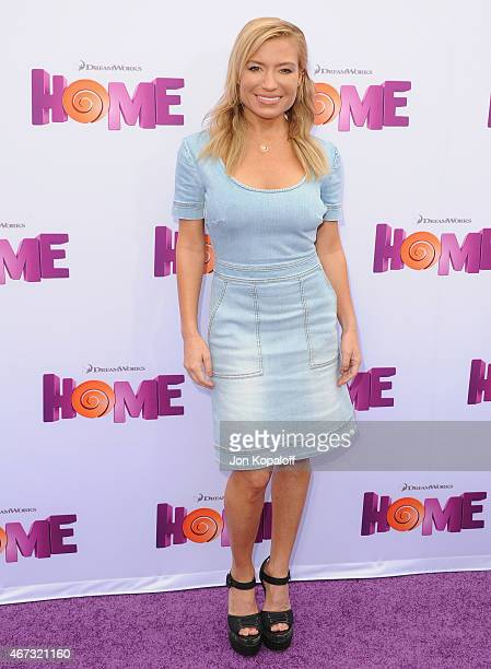 Tracy Anderson arrives at the Los Angeles Premiere 'HOME' at Regency Village Theatre on March 22 2015 in Westwood California