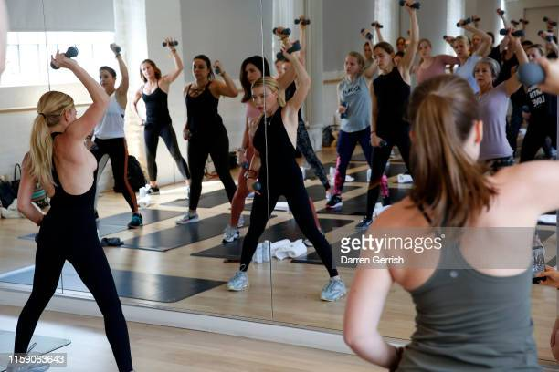 Tracy Anderson leads a class at In goop Health London 2019 on June 29 2019 in London England