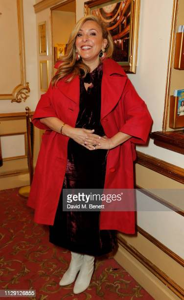 Tracy Ann Oberman attends the press night performance of 'Ian McKellen On Stage' a special one man show celebrating his 80th birthday at Duke Of...