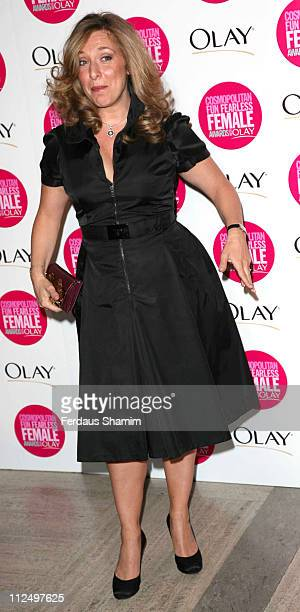 Tracy Ann Oberman during Cosmopolitan Fun Fearless Female Awards with Olay Red Carpet at Bloomsbury Ballroom in London Great Britain