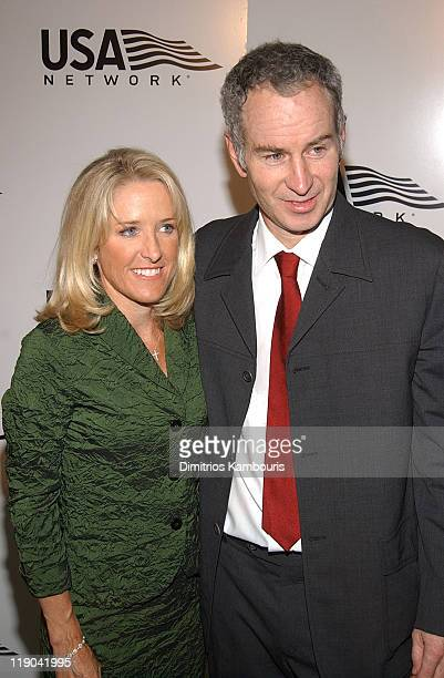Tracy Austin and John McEnroe during 2003 US Open USA Network Celebrates The Opening Of the 2003 US Open at USTA National Tennis Center in Queens New...