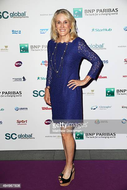Tracy Austin attends Singapore Tennis Evening during BNP Paribas WTA Finals at Marina Bay Sands on October 30 2015 in Singapore