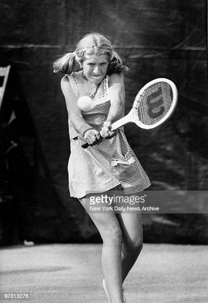 Tracy Austin in action against Betty Stove during the US Open at Forest Hills
