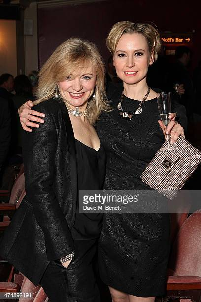 """Tracy Brabin and Caroline Carver attend an after party inside the Noel Coward Theatre following the press night performance of """"The Full Monty"""" on..."""