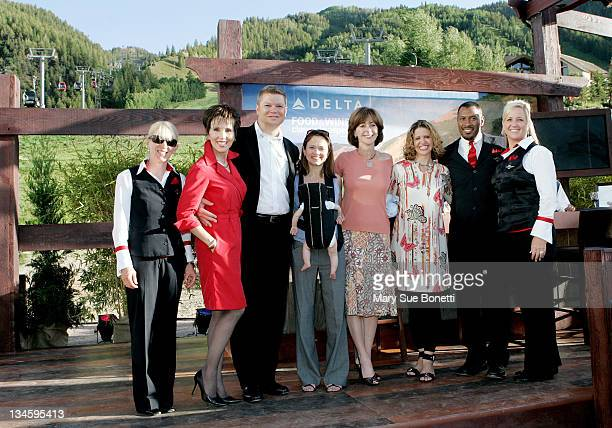 Tracy Budge of Delta Patricia Ringness of Delta Tim Mapes Managing Directior of Marketing at Delta Air Lines Andrea Robinson Master Sommelier for...