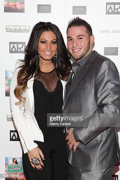 Tracy DiMarco and fiance Corey Eps attend The Glamour State225 Years Of Stylish Innovation Book Launch Party on November 20 2012 in Elizabeth New...