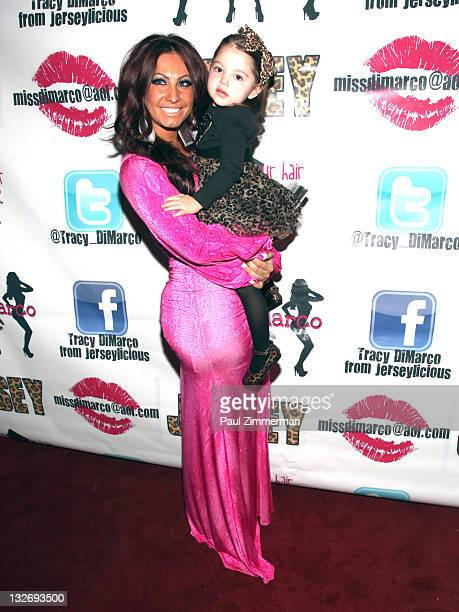 Tracy DiMarco and Jordyn Burgos attend Tracy Dimarco's Birthday celebration at The Loft on November 13 2011 in West Orange New Jersey