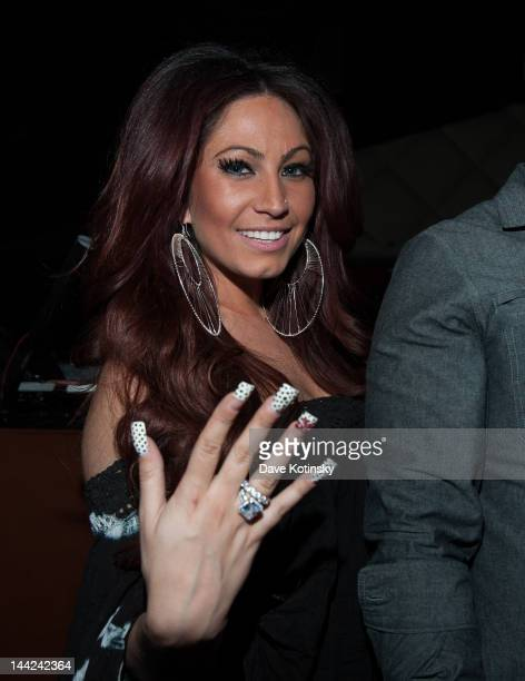 Tracy Dimarco attends at Chris Michaels Steakhouse on May 11 2012 in Woodbridge New Jersey