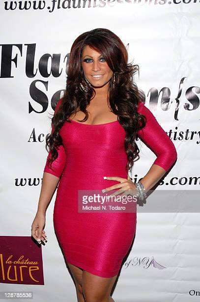 Tracy Dimarco attends the Flaunt Session{s} Hair Show during the 2011 New Jersy Fashion Week at The Chandelier Room on October 7 2011 in Hoboken New...