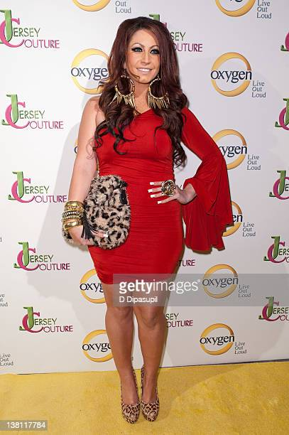 Tracy DiMarco attends the Jersey Couture Season 2 launch at the Jersey Couture PopUp Beauty Bar on February 2 2012 in New York City