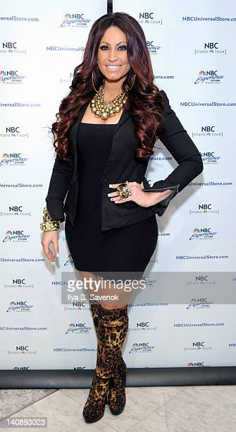 Tracy Dimarco attends the Jerseylicious cast meet greet at the NBC Experience Store on March 7 2012 in New York City