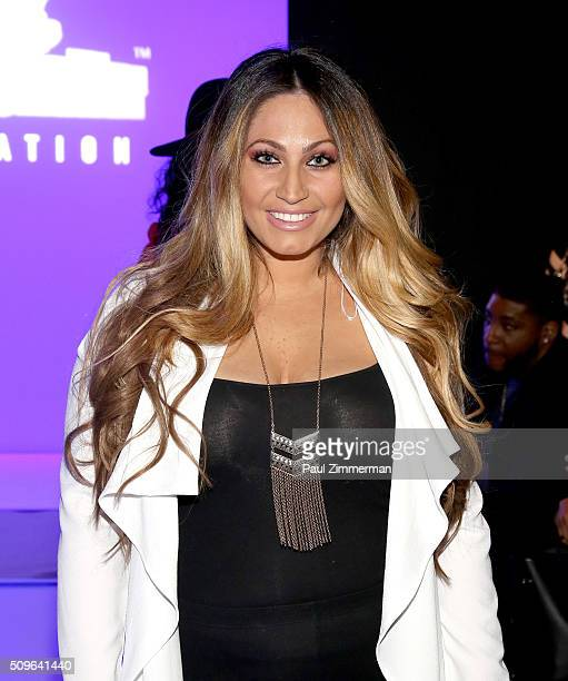 Tracy DiMarco attends the Rookie USA Presents Kids Rock Front Row Backstage Fall 2016 New York Fashion Week The Shows at Skylight at Moynihan Station...
