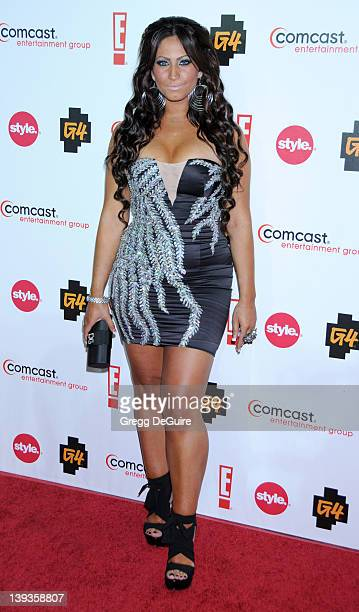 Tracy DiMarco of Jerseylicious arrives at the Comcast Entertainment Group TCA Cocktail Reception at the Beverly Hilton Hotel on August 6 2010 in...