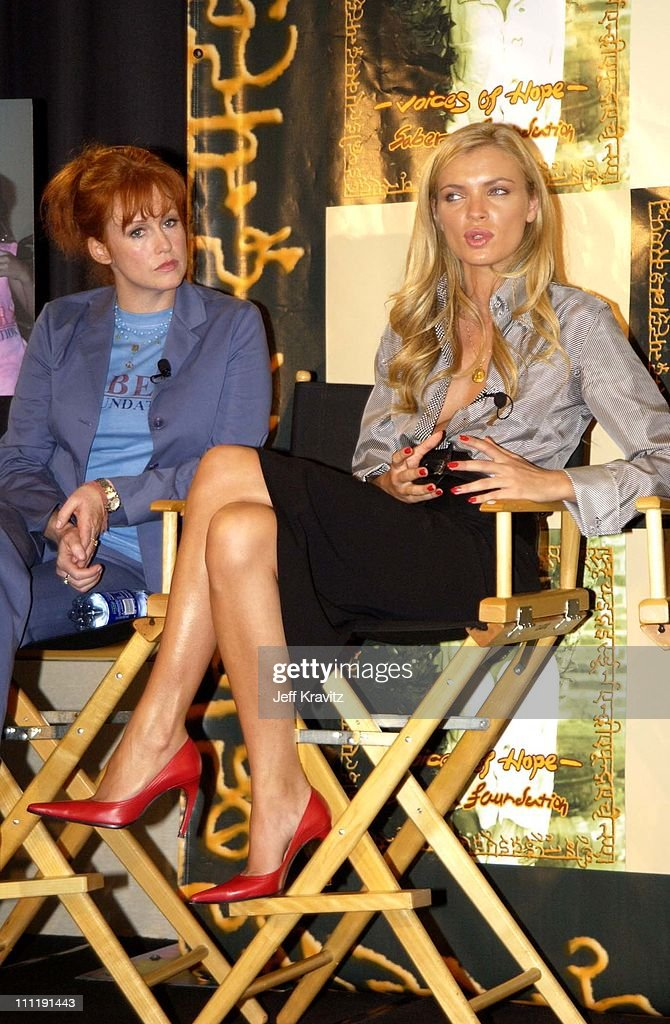 Tracy Griffith and Esther Canadas during Sabera Foundation U.S. Launch at Creative Artist's Agency in Beverly Hills, California, United States.