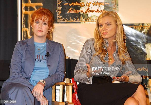 Tracy Griffith Esther Canadas during Penelope Cruz at Press Conference Announcing Launch of US Branch of the SABERA Foundation at CAA in Beverly...