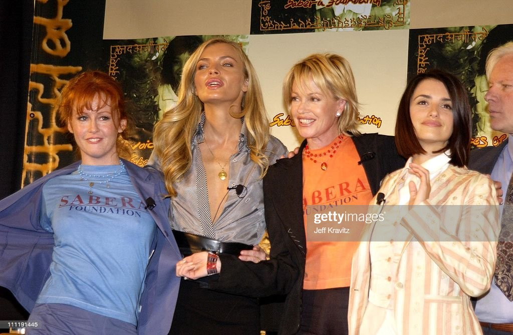 Tracy Griffith, Esther Canadas, Melanie Griffith and Penelope Cruz