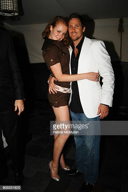 Tracy Hanna and Desmond Reilly attend DJ Cassidy and Fonzworth Bentley Host BUNNY CHOW Sunday at CAIN Southampton Club on May 28 2006 in Southampton...