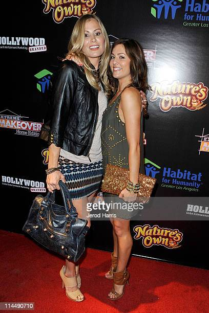 "Tracy Hutson and Jillian Harris arrive at ABC's ""Extreme Makeover: Home Edition"" Benefiting Habitat For Humanity Los Angeles on May 21, 2011 in..."