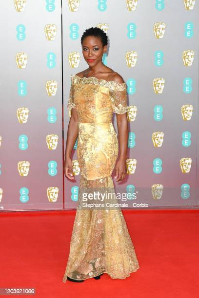 Tracy Ifeachor attends the EE British Academy Film Awards 2020 at Royal Albert Hall on February 02 2020 in London England