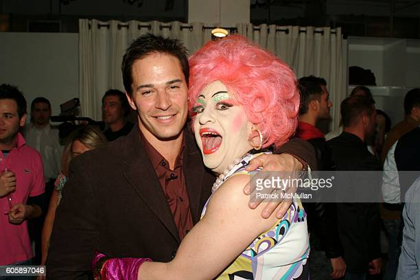 Tracy James and Brandwine attend AMANDA LEPORE DOLL cocktail party at Jeffrey on April 11 2006 in New York City
