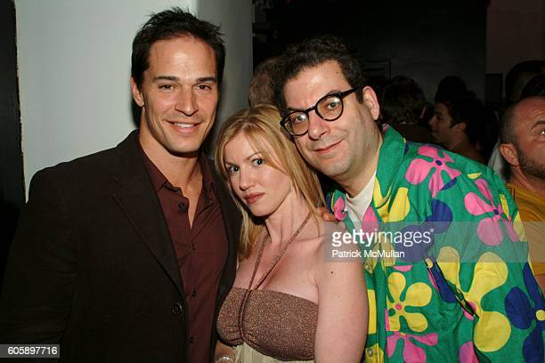 Tracy James Peel James and Michael Musto attend AMANDA LEPORE DOLL After Party at Happy Valley on April 11 2006 in New York City