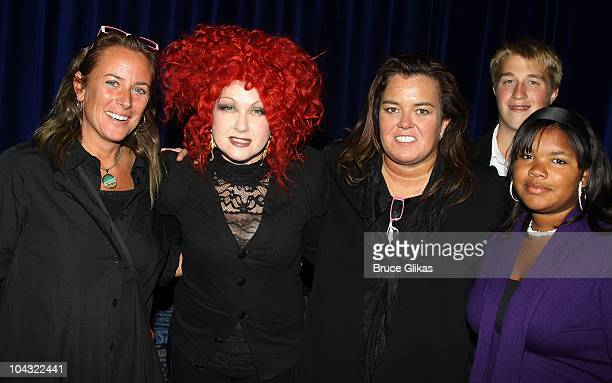 Tracy KachtickAnders Cyndi Lauper Rosie O'Donnell son Parker O'Donnell and daughter Desi pose at Rosie's Building Dreams For Kids Gala at Marriot...