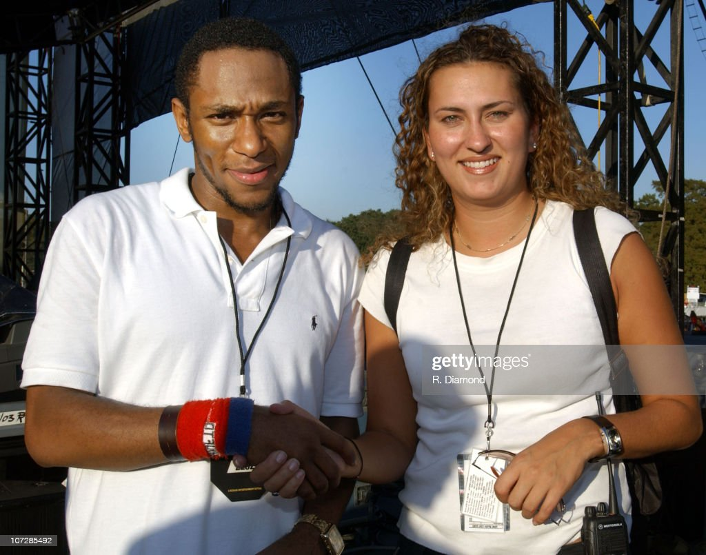 Tracy Kessler, Rehage Entertainment and Mos Def during Voodoo Music Experience 2003 - Day Two at City Park in New Orleans, Louisiana, United States.